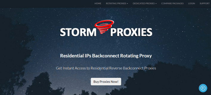 storm proxies of residential IPs