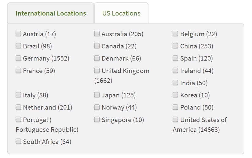 Choose GEO locations