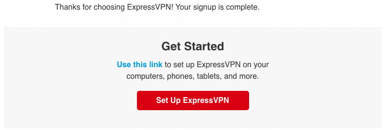ExpressVPN Email Confirmation