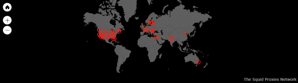 Location of Squidproxies proxy servers