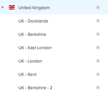 UK Servers on ExpressVPN Portal