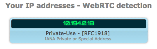 WebRTC Test Confirmation