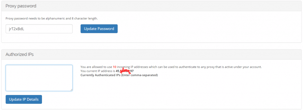 How to authorize IPs