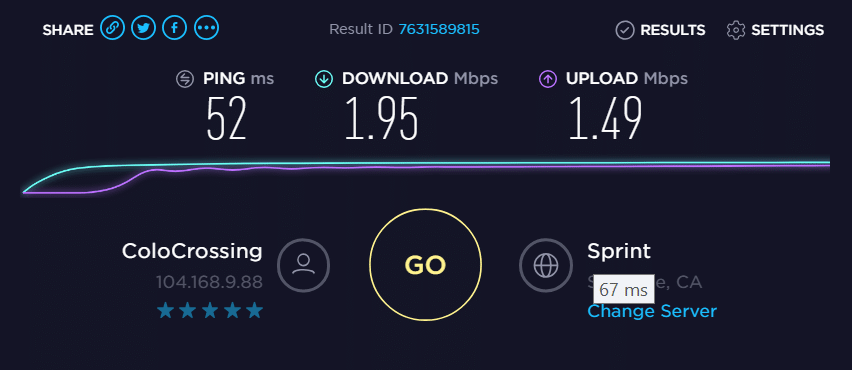 IP- 104.168.9.88 speed test