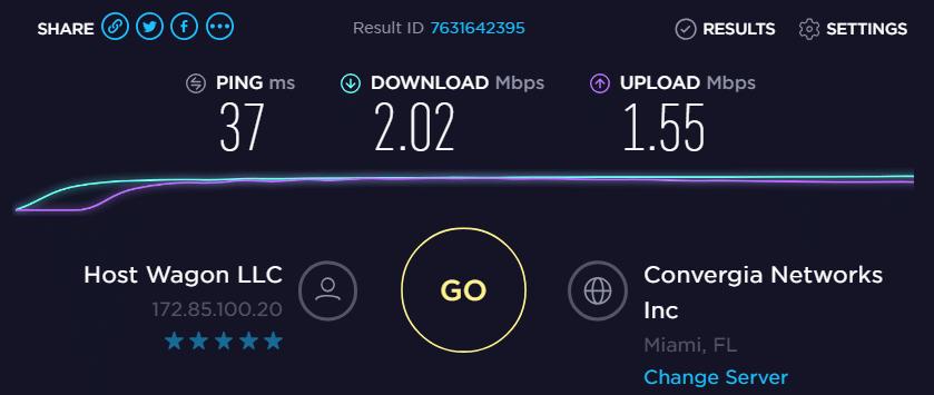 IP- 172.85.100.20 speed test