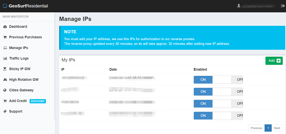 manage ips to auth