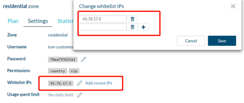 Add whitelist IPs