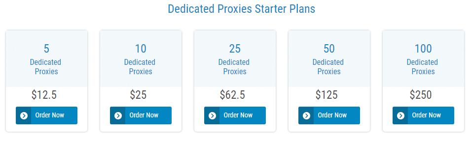 Dedicated Proxies Pricing