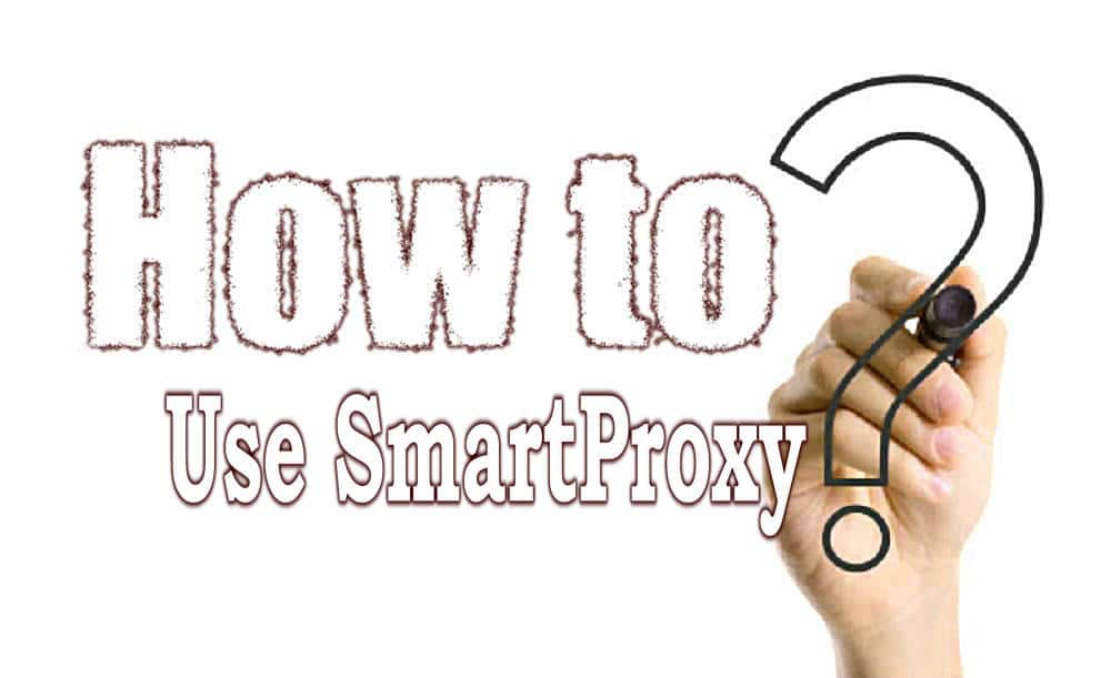 How to use the smartproxy
