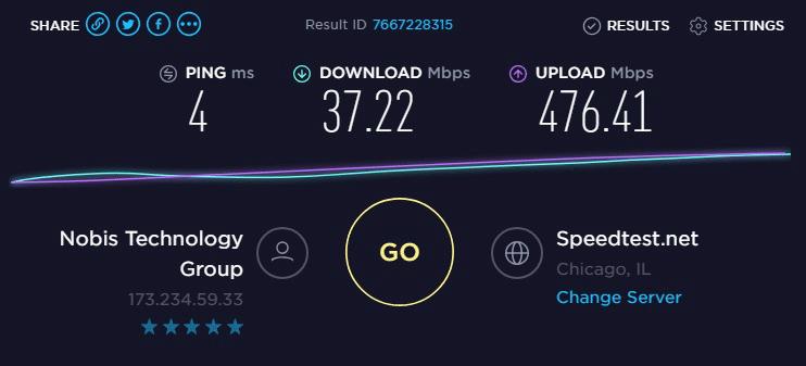Speed test to IP10- 173.234.59.33
