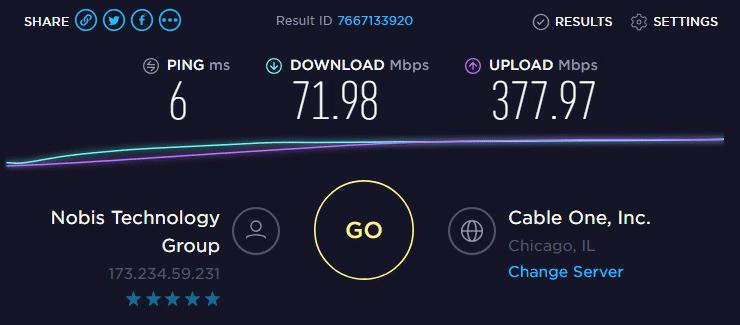 Speed test to IP6- 173.234.59.231