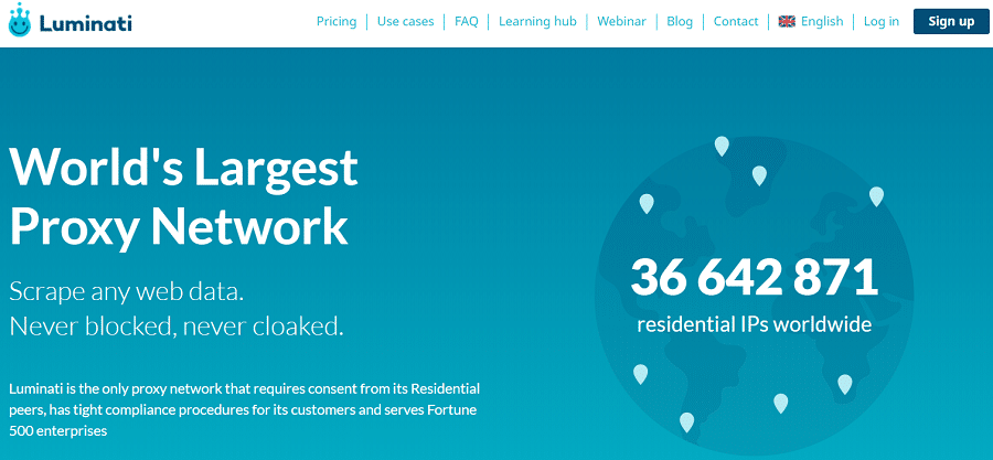 Luminati Homepage