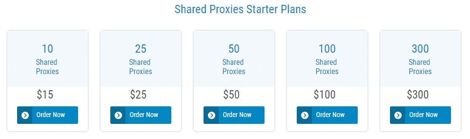 Shared Proxies Pricing
