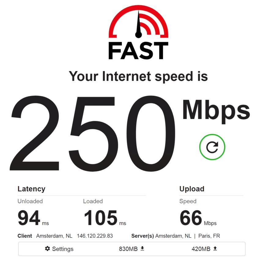 Speed test PrivateProxy IP 2