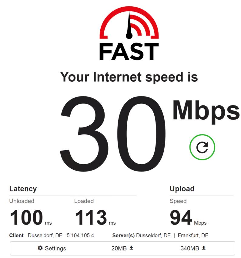 Speed test PrivateProxy IP 7