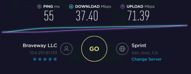 Speed test with proxies 1