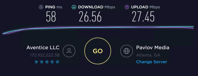 Speed test with proxies 2