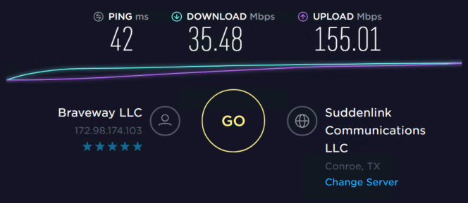 Speed test with proxies 8