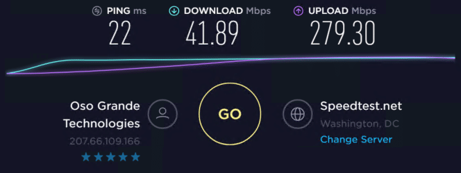 Speed test with proxies 9