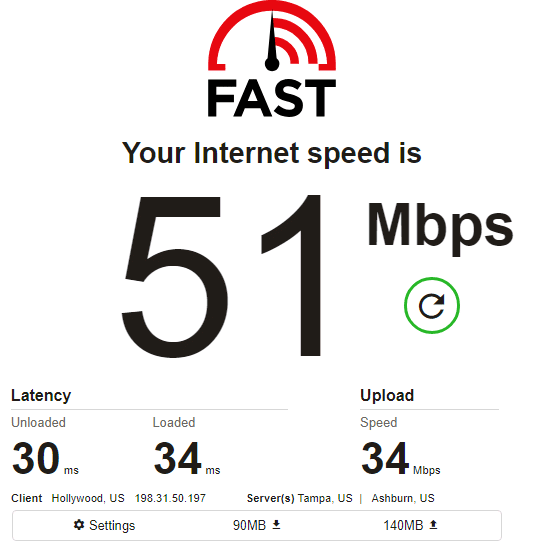 NetNut speed test ip1