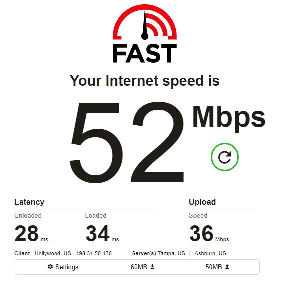 NetNut speed test ip6