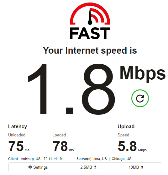 NetNut speed test ip9