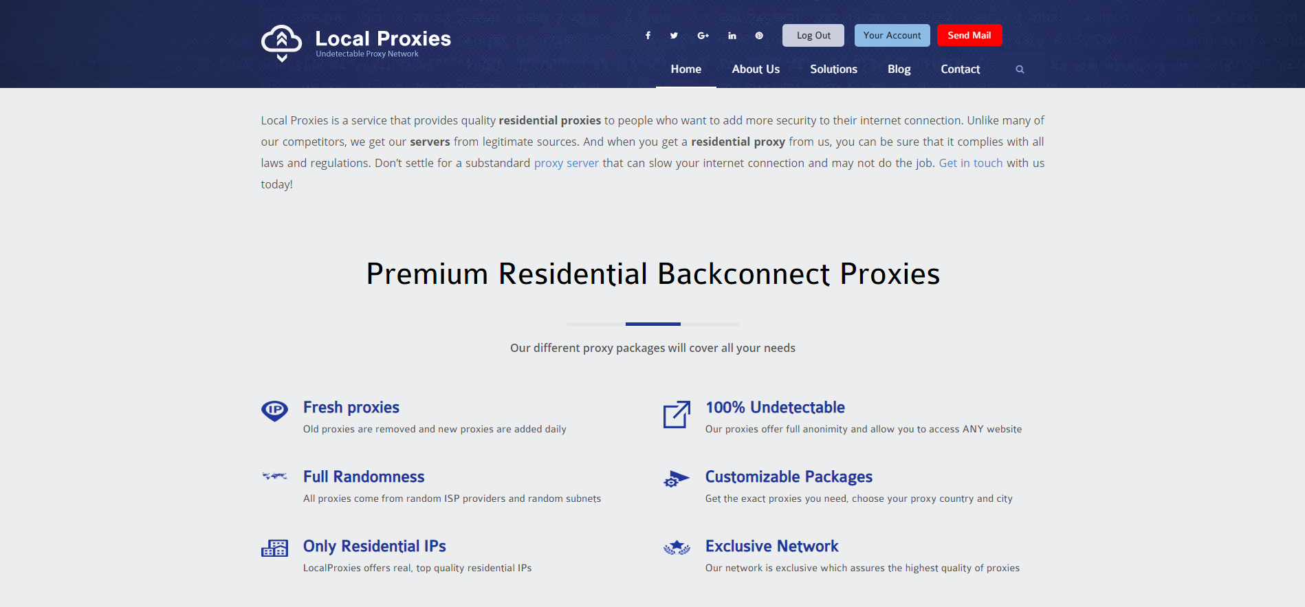 Local Proxies Homepage