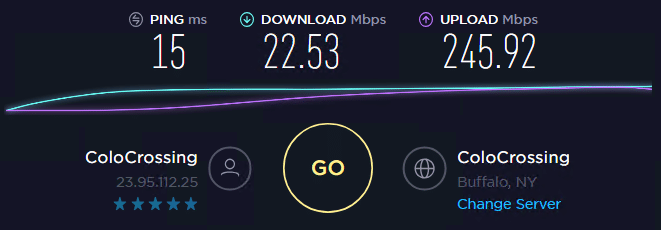 Speed test with ip 9