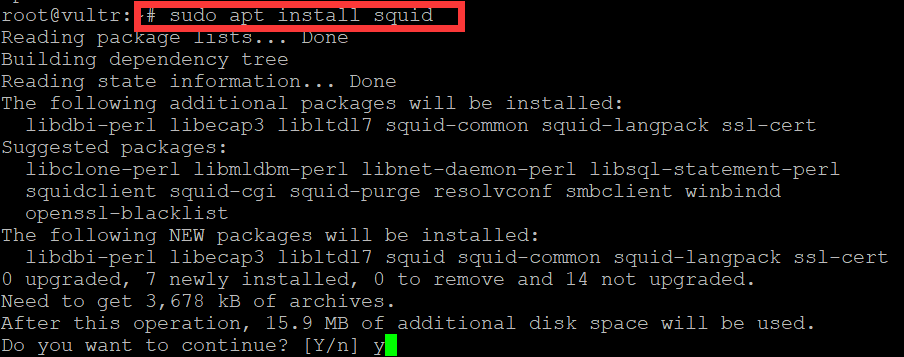 install squid proxy