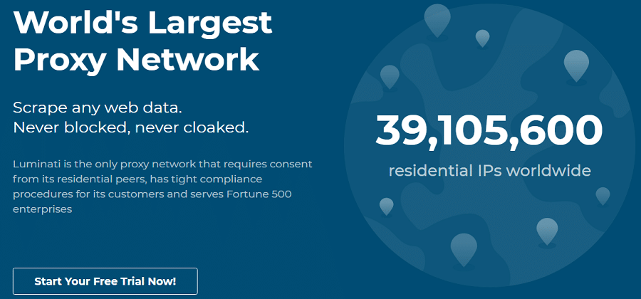 Largest residential Proxy Network