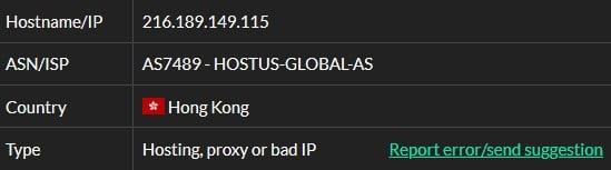 Infatica ISP Test ip1