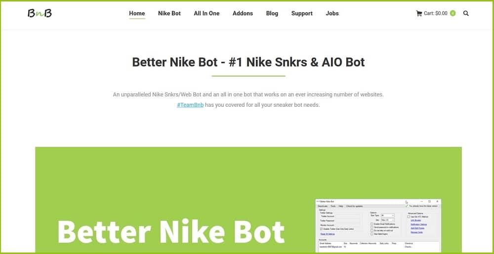 Better Nike Bot