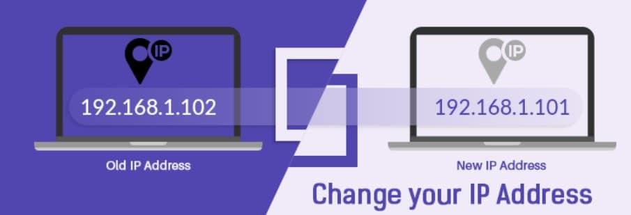 IP address change