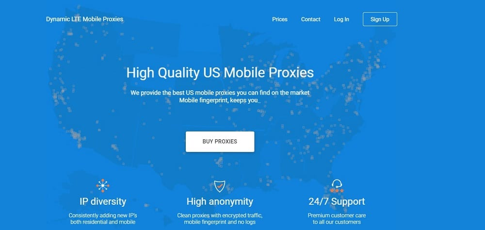 Proxy LTE mobile residential