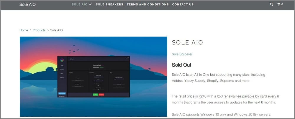 Sole AIO Supreme Bot