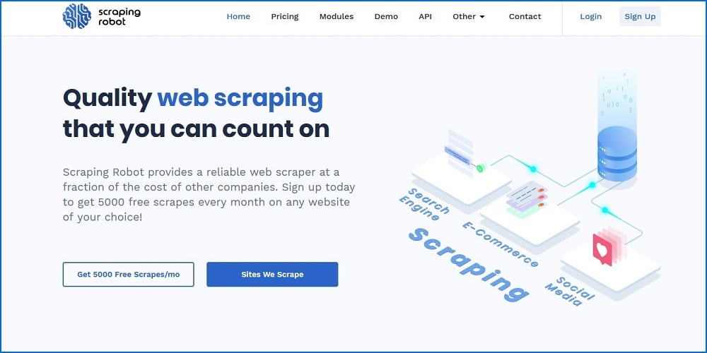 Scraping Robot services