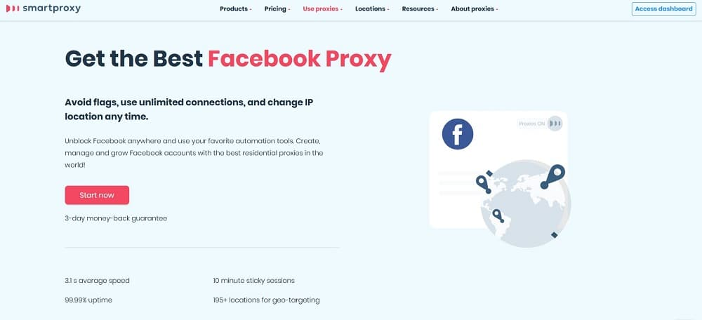 Smartproxy for Facebook proxies