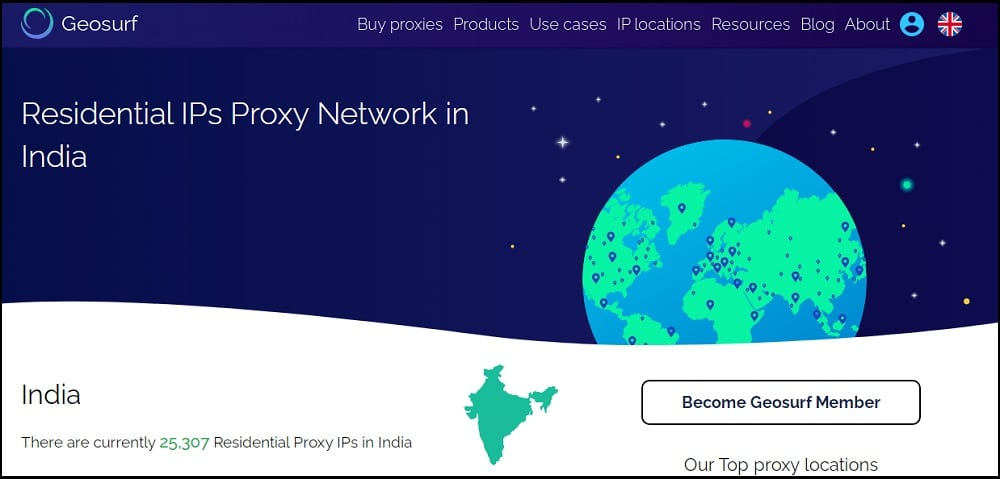 Geosurf Proxies Location in Indian