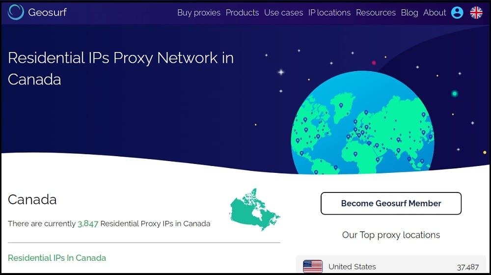 Geosurf Proxies Provider of Canada
