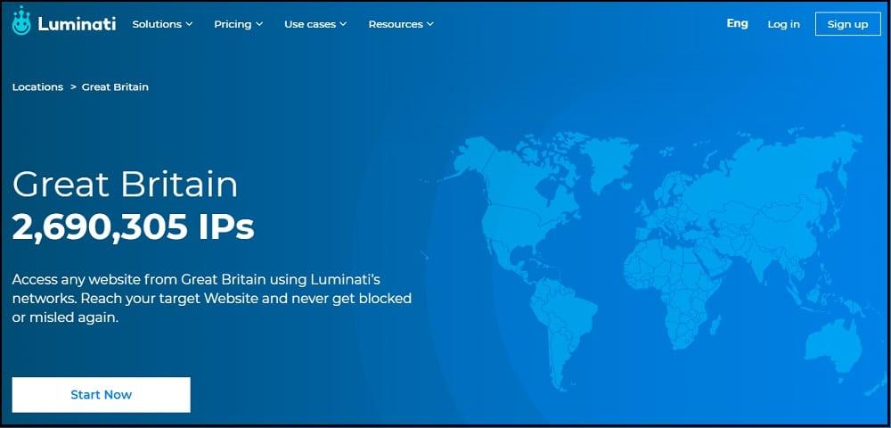 Luminati Location in UK