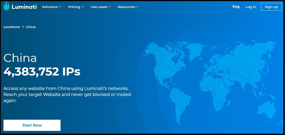 Luminati Proxies Location in China