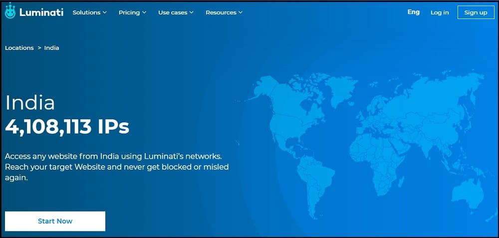 Luminati Proxies Location in Indian