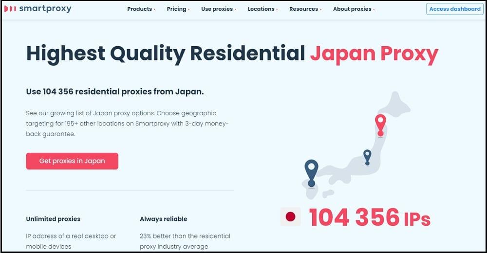 Smart Proxy Location in Japan