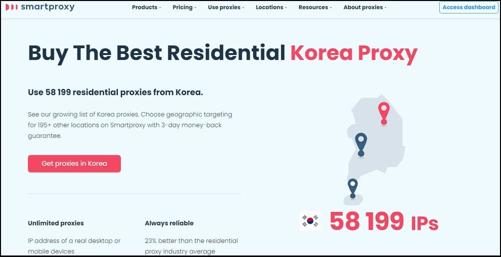 Smart Proxy Location in Korea