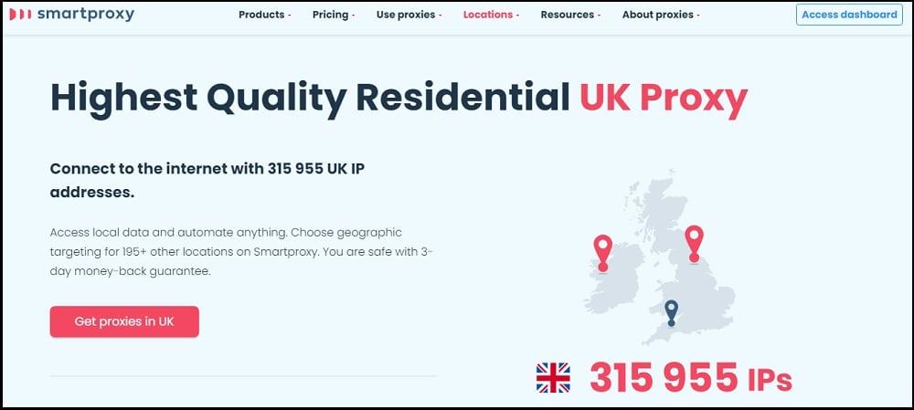 Smart Proxy Location in UK