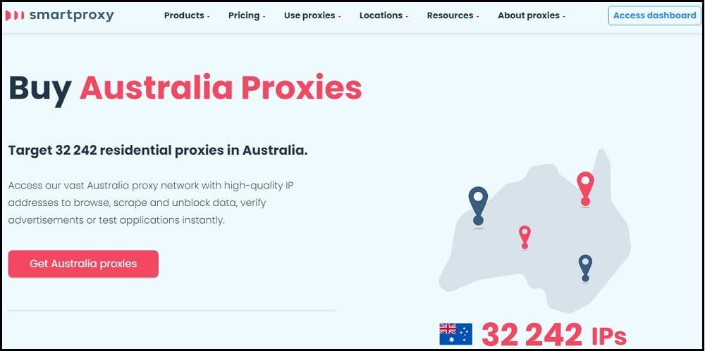 SmartProxy location of Australia
