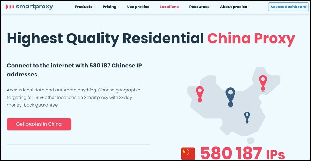 Smartproxy Location of China