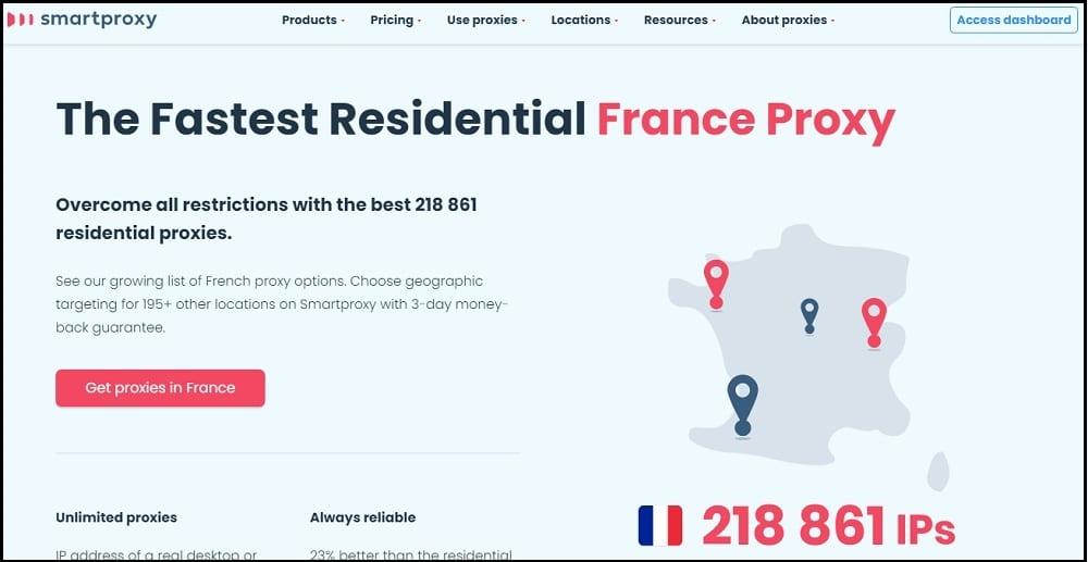 Smartproxy Proxies Location in France