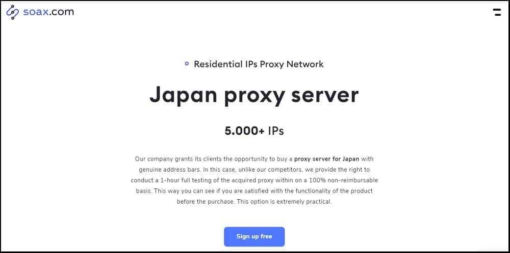 Soax Proxies Location in Japan