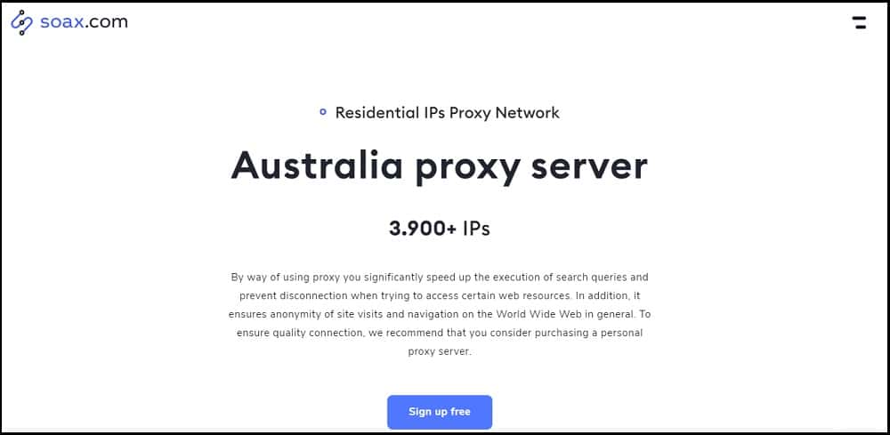 Soax Proxies Provider of Australia